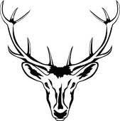 clip art of deer head sketch vector illustration k18853888