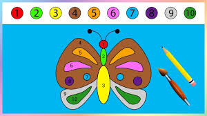 puzzle butterfly coloring page learn numbers 1 to 10 education