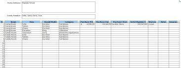 Excel Spreadsheet For Warehouse Inventory by Home Inventory Template Click To Enlarge Image How Do I Add