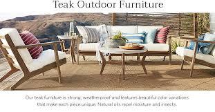 teak patio furniture pottery barn