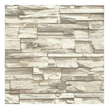 faux stacked stone peel u0026 stick wallpaper wall decal
