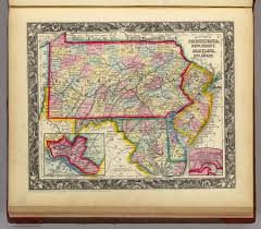 Pennsylvania Map by County Map Of Pennsylvania New Jersey Maryland And Delaware