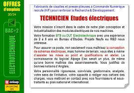 technicien bureau d étude électricité bac 2 electrotechnique ppt télécharger