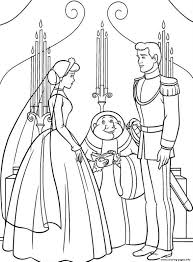 princess married prince cinderella kids3474 coloring