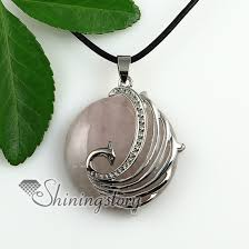 stone necklace pendants images Round peacock rose quartz glass opal tiger 39 s eye amethyst semi jpg