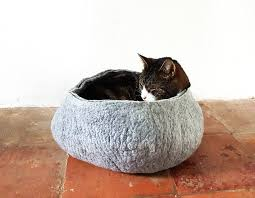 cat bed basket by lovecatcaves notonthehighstreet com
