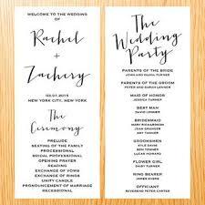 modern wedding program wedding ceremony program fototails me