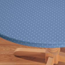 Round Elastic Tablecloth Original Elasticized Vinyl Table Cover Miles Kimball