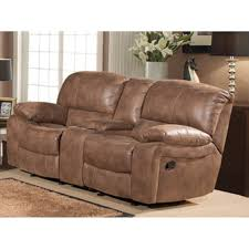 Microfiber Reclining Loveseat With Console Furniture Recliner Loveseats Electric Reclining Loveseat