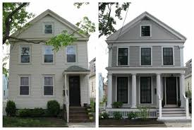 an urban cottage greek revival exterior renovation before and