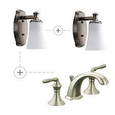 Kohler Devonshire Bathroom Lighting Faucet Com K 394 4 Bn P2970 09 In Brushed Nickel By Kohler