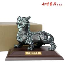 chinese copper brave troops lucky home decoration pi xiu bronze