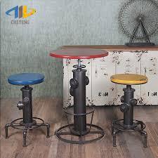 industrial bar table and stools chi teng loft industrial wind iron bar stool retro bar tables and