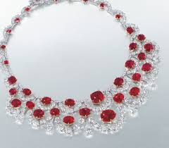 diamond ruby necklace sets images Luriya christie 39 s sets a world record most expensive ruby png