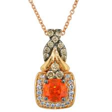 white opal necklace le vian fire opal necklace in 14kt rose gold with natural