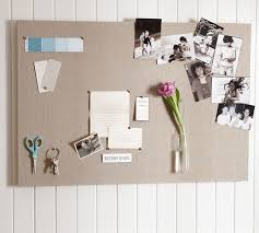 pin boards linen pinboard pottery barn