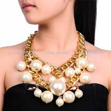 chunky necklace pearl images Cheap white pearl statement necklace find white pearl statement jpg