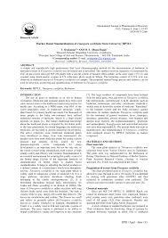 marker based standardization of tinospora cordifolia stem extract
