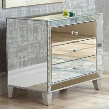 3 drawer accent table furniture liza 3 drawer 30 wide mirrored accent table