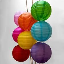 luna bazaar 8 inch paper lanterns multi colored 8 pack colors