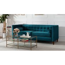 Teal Chesterfield Sofa Willa Arlo Interiors Harcourt Tufted Chesterfield Sofa In Teal