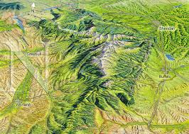 Wyoming mountains images Bighorn mountains wyoming james niehues map artist ski maps jpg