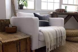 karlstad chair cover my modern rustic living room refresh refreshed designs