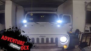 Led Lights Jeep Wrangler Jeep Wrangler Windshield Led U0027s By Auxbeam Installation And