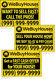 bandit signs we buy houses marketing portal