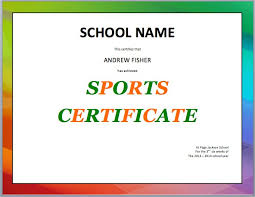 sport certificate templates for word microsoft word certificate