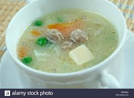 Small Chicken Hochzeitssuppe Wedding Soup German Soup Based On Chicken Broth