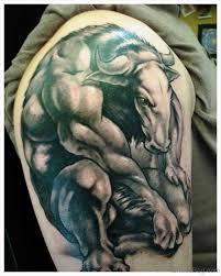 Great Shoulder - 60 bull tattoos on shoulder