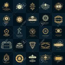 design a vintage logo free vector illustration of line graphics monogram vintage logos
