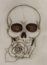 designs flower tattoos designs black and skull