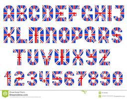 alphabet of british flag stock vector image of background 35130355