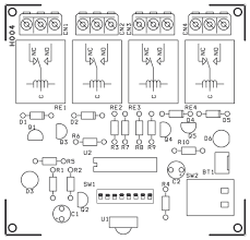 4 channel infrared remote relays electronic circuit diagram
