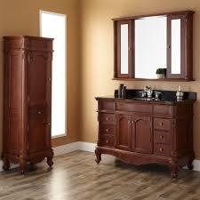cherry bathroom mirror sedwick brown cherry vanity bathroom mirror home depot vessel sink