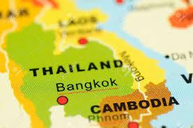 Bangkok Map Close Up Of Bangkok Thailand On Map Stock Photo Picture And