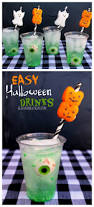 easy halloween drink with peep straws a and a glue gun