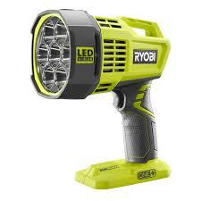ryobi 18 volt one cordless dual power led spotlight bare tool