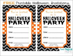 halloween birthday party invitations free printable festival