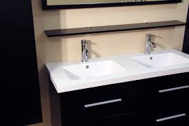 48 inch floating bath cabinet double sink with side cabinet