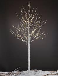 lighted birch tree lightshare led pre lit 132 light birch tree reviews wayfair