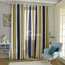 stylish stripes light blocking double pinch pleat curtain