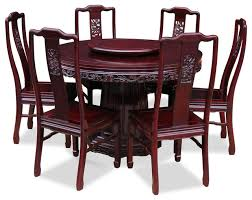 round kitchen table and chairs for 6 52 round table chairs set 48quot rosewood dragon design round