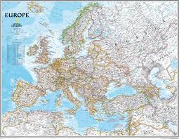 wall maps political europe map large size wall maps