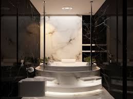 cozy minimalist japanse bathroom design featuring white bathtub