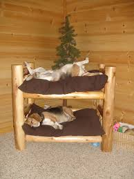 Doggie Beds Log Bunk Beds With Unique Dog Bunk Beds Of Small Log Bunk Bed