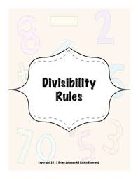 divisibility rules worksheets to teach rules of divisibility tpt