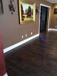 this scraped hickory laminate flooring has an embossed